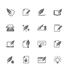 Simple writing icons vector