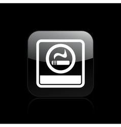 Smoke area icon vector