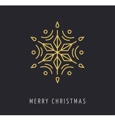 Snowlakes geometric Christmas background vector image