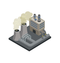 Steel plant isometric 3d element vector