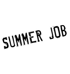 summer job rubber stamp vector image