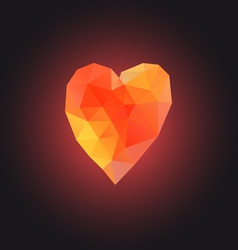 Symbol of love with heart vector