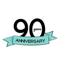 Template Logo 90 Years Anniversary vector image