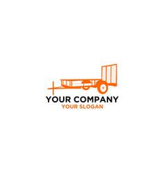 Tex trailers logo design vector