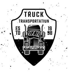 truck monochrome emblem badge label or vector image