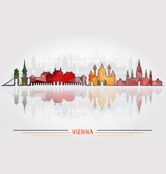 Vienna city background vector