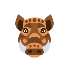 Wart hog african animals stylized geometric head vector