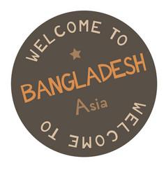 welcome to bangladesh asia vector image