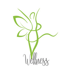 Wellness woman with harmony message treatment vector