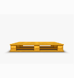 Wooden pallet empty on white vector