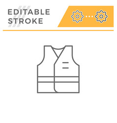 Working vest line icon vector