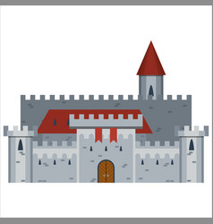 hand drawn medieval castle vector image vector image