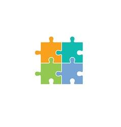 puzzle theme logotype vector image