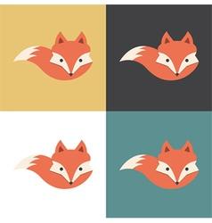 Red fox icon vector image vector image