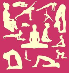 Yoga Pose Woman Digital Clipart vector image