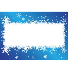 blue and white card with snowflakes vector image vector image