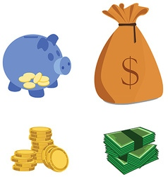 Capital icons vector image vector image