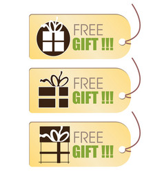 Free gift tag vector