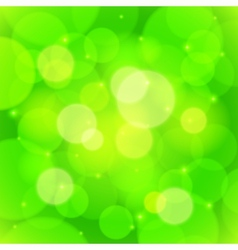 Green bokeh effect abstract background vector image