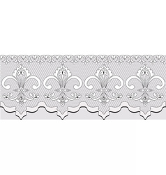 Handmade lace material with classic ornaments vector