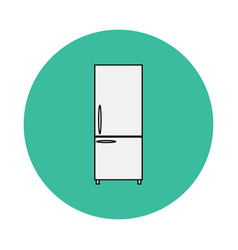 icon of the refrigerator vector image