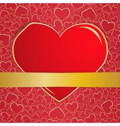 invitation card on wedding eps10 vector image vector image
