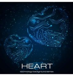 Abstract technology heart vector