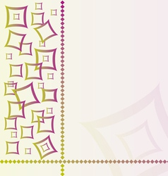 abstract textile background with square vector image vector image