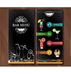 Design menu for cocktail bar in the corporate vector image vector image