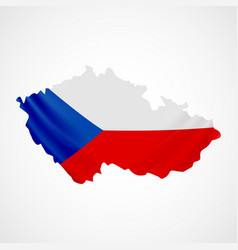 hanging czech flag in form of map czech republic vector image