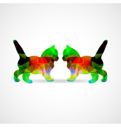mosaic cats vector image vector image