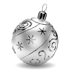 silver christmas ball vector image