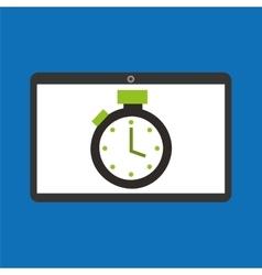sport laptop app concept chronometer vector image
