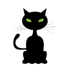 Abstract black cat vector image vector image