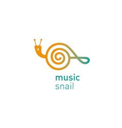 creative development logo musical shail vector image