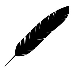 icon of the bird feather vector image