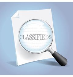 Looking at the Classifieds vector image vector image
