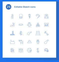 25 sketch icons vector