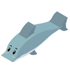 3d design for dolphin vector image