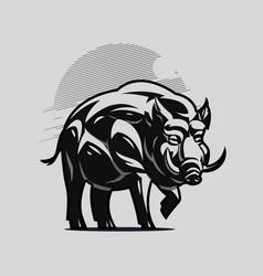 A large adult boar or hog vector
