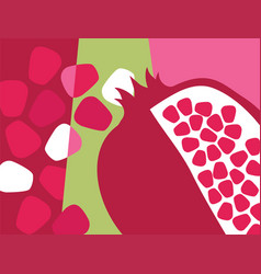 Abstract fruit design pomegranate vector