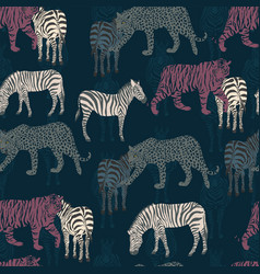 abstract seamless pattern zebra tiger panther vector image