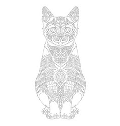 Animal adult coloring page vector