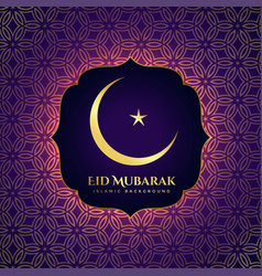 Awesome islamic eid festival shiny greeting vector