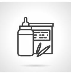 Baby organic food icon Milk bottle vector