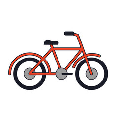 Bicycle sport vehicle isolated vector