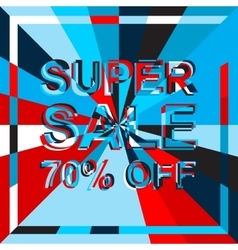 Big ice sale poster with SUPER SALE 70 PERCENT OFF vector