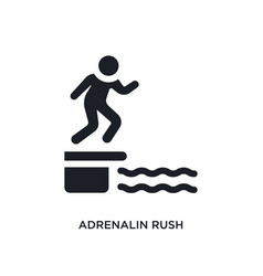 Black adrenalin rush isolated icon simple element vector