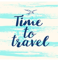 Blue abstract travel background vector
