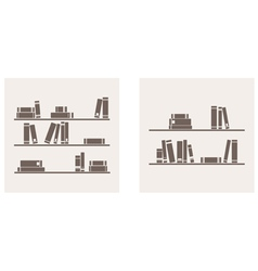 Books on the shelf set - simply retro vector image